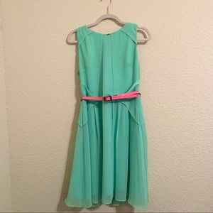 Vince Camuto mint dress w/ belt